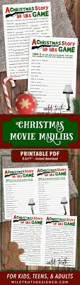 A Christmas Story Movie Mad Lib - Holiday Party Game For Adults (LOL, this