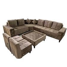 7 seater home l shape sofa set size