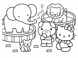 Hello Kitty Coloring Pages And Book Uniquecoloringpages Coloring