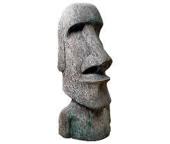 easter island moai head concrete large 090076cc