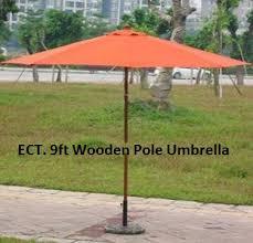 ect 9ft wooden pole umbrella