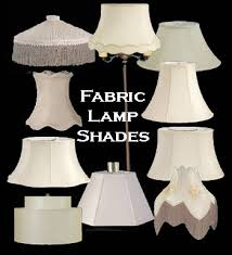 fabric lamp shades at the antique lamp co