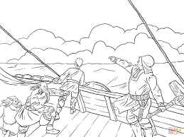 Small Picture Leif Ericson Discovers North America coloring page Free