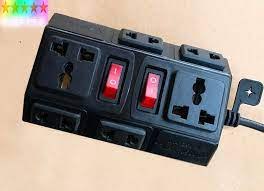 Ổ cắm điện chịu tải 2500W - 10A (6 ổ cắm, dây dài 3mét) - Ổ cắm điện vinakip