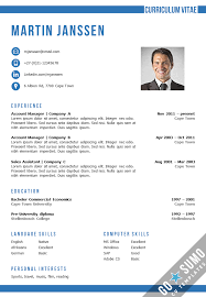 resume in ms word cv template cape town