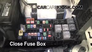 blown fuse check 2010 2012 ford fusion 2010 ford fusion se 2 5l 6 replace cover secure the cover and test component
