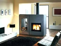 two sided wood burning fireplaces mirage stone 3 sided gas