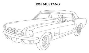 1964 Mustang Coloring Pages Mustangs Cars Coloring Pages