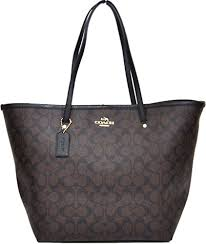 Coach Signature Large Taxi Tote (Brown  Black)  34105