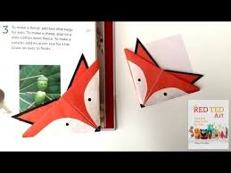unicorn bookmarks with jenny from origami tree nextup fox corner bookmarks red ted art s