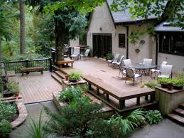 backyard raised patio ideas. Full Size Of Deck:deck And Patio Design Ideas Outdoor Trends Awesome Home Designs Deck Backyard Raised H