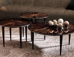 Italian Coffee Table Nella Vetrina Pierrot Contemporary Italian Ebony Makassar Veneer