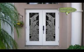 some beautiful etched glass doors