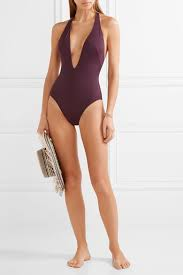 solid and striped reviews. Simple And Solid And Striped The Willow Halterneck Swimsuit Burgundy Women Clothing  Beachwearsolid Striped Swimwear  On And Reviews E