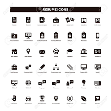 Free Resume Icons CV And Resume Black Solid Icons Royalty Free Cliparts Vectors And 5