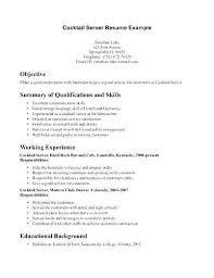 Example Bartender Resume Resume Skills Sample Bartender Resume ...