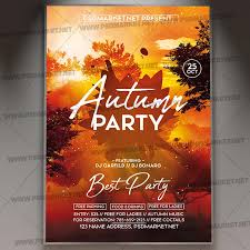 Fall Flyer Autumn Party Event Flyer Psd Template