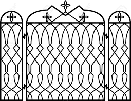 cast iron fireplace screen