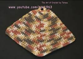 Double Thick Crochet Potholder Pattern Magnificent Crochet PotHolder With Plastic Ring Double Thick