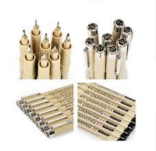 8 pcs/pack Needle Drawing Pen Art Sets Hook fine point ... - Qoo10