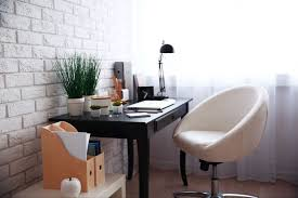 home office. Admirable Comfy Home Office Ideas. Prepossessing Showcases Black Table Desk Together