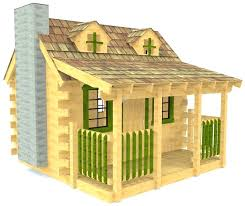 playhouse plans free log cabin little easy pdf