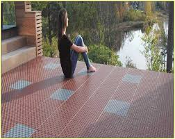 image of terrace interlocking floor tiles