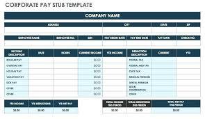 Microsoft Payroll Templates Payroll Pay Stub Template