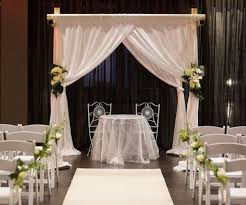 indoor wedding arches. indoor_sydney_wedding_ceremony_with_4_post_bamboo_style_canopy_with_white_chiffon.jpg indoor wedding arches