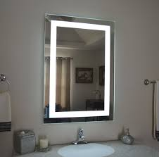 f winsome led lighted vanity mirror ideas for sink bathroom lighting with wall mount rectangle shaped and modern white ceramic sink using stainless steel bathroom lighting ideas square wall mounted