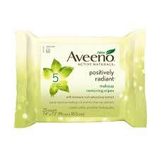 i have been on the lookout for new makeup remover wipes and i m a fan of the aveeno positively wipes