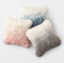 Mongolian fur pillows Black Rhtnprod104251e59885880opdillumu003d0widu003d650 Rh Teen Mongolian Lamb Ombré Pillow Cover Insert