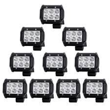 Quakeworld 10 X 18w 1800 Lumens Led Spot Light For Off Road Rv Atv Suv Boat 4x4 Jeep Lamp Tractor Marine Off Road Lighting Pack Of 10