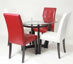 roundhill furniture black glass round dining table and 6 chairs d1 round glass dining table and