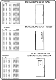 exterior door parts. doors - mobile home parts exterior door o