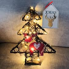 diy rattan wreath string lights lamp door wall decor with 20 led beads tree decorations xmas decoration y18102909 decorations