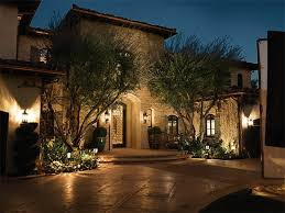 outdoor lighting in front of a home