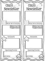 Free Teacher Newsletter Templates Printable Newsletter Templates Homeish Co