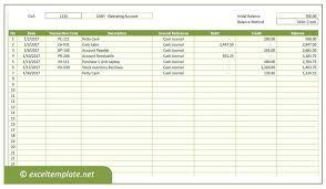General Ledger Template Printable Ledger Account Template Skincense Co