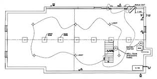 basement plumbing sample basement layout plan the stair location was determined by the basement lighting layout