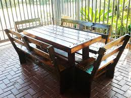 diy pallet outdoor dinning table. pallet patio dining set diy outdoor dinning table o