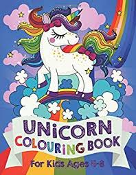 unicorn colouring book for kids ages 4 8
