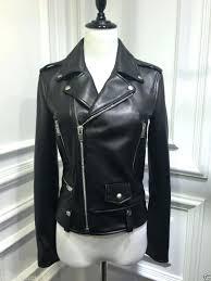 wilson leather jacket women black motorcycle biker womens
