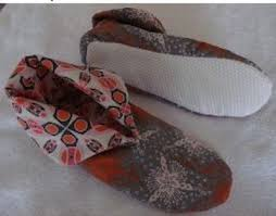Pretty Quilted Slippers Pattern | Quilt Pattern Design & Quilted Slippers Pattern five shadows fabrics and friends quilt shoppe Adamdwight.com
