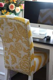 office chair upholstery. Like The Two Different Fabrics For Reupholster Chair. Note To Self. Do This In Office Chair Upholstery
