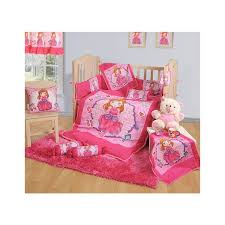 pink princess baby cot set