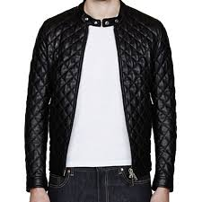 A Quilted Men's Bomber Leather Jacket - Leather Jackets USA & A Quilted Men's Bomber Leather Jacket Adamdwight.com