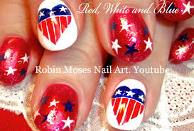4th of July Nails | DIY Red White and Blue Nail Art Design ...
