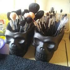 skull makeup storage
