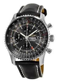 navitimer world limited edition stratus grey black leather strap men s watch